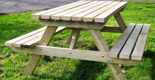 chic wood picnic table bench weekend diy picnic table project