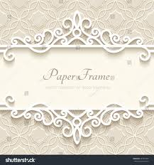 vintage vector background paper border decoration stock vector