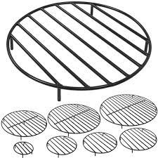 sunnydaze round steel outdoor fire pit grate