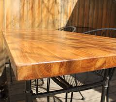 butcher block table top home depot our homegrown spud patio table butcher block from ikea and