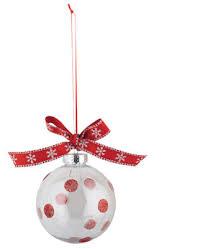 glitter dotted plastic ornament crafts