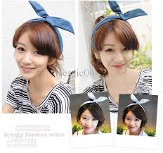 korean headband girl women korea korean rabbit ear cowboy ribbon