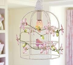 Birdcage Chandeliers Pink Birdcage Chandelier Pottery Barn Kids