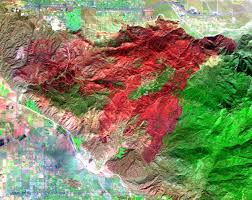 Palm Springs Map Space Images Esperanza Fire Near Palm Springs California