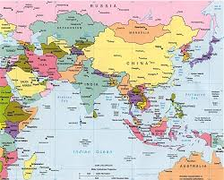Blank East Asia Map by East Asia Oceania Political 1992