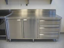 Kitchen Cabinet Stainless Steel Most Used Stainless Steel Kitchen Cabinets Cabinets Metal Chrome