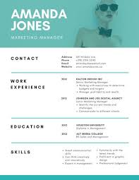 Resume Template With Picture Insert Photo Resume Templates Canva