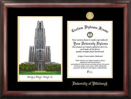 virginia tech diploma frame of pittsburgh gold embossed diploma frame with