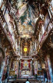 baroque architecture inside asamkirche in munich germany bellos