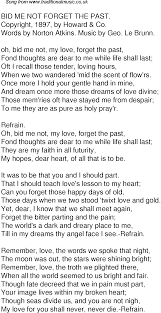 bid me time song lyrics for 57 bid me not forget the past
