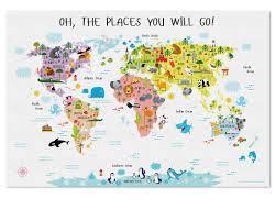Australian World Map by Baby Nursery World Map Canvas Nursery Canvas Wall Art