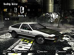 wanted toyota corolla toyota corolla ae86 initial d version nfs most wanted nfsmods