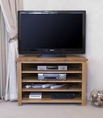 Opus Solid Oak Corner TV Cabinet Oak Furniture UK - Corner cabinets for plasma tv
