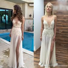 high wedding dresses 2011 discount simple design spaghetti boho wedding dresses 2018