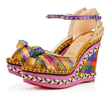 christian louboutin madcarina knotted spiked wedge espadrille