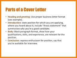 heading of cover letter cover letter formatting cover letter