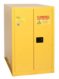 Horizontal Storage Cabinet Eagle One Drum Horizontal Safety Cabinet 55 Gal Yellow Two