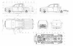 volkswagen drawing volkswagen amarok 2013 blueprint download free blueprint for 3d