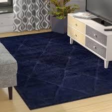 Shag Carpet Area Rugs Navy Blue Shag Rug Wayfair