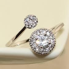 small rings design images New design engagement rings platinum plated genuine austrian jpg