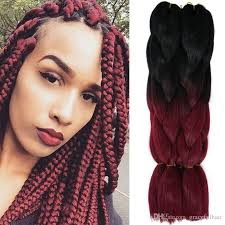 ombre crochet braids kanekalon ombre braiding hair bulks two tone xpression synthetic