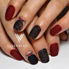 Black Manicure Designs Black And Maroon Nails How You Can Do It At Home Pictures Designs