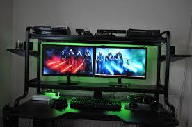 Cool Computer Desk Furniture Cool Computer Setups And Gaming Gamer Setup Idolza Of