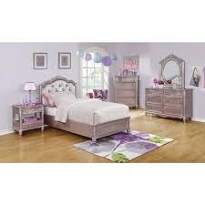 coaster caroline bedroom set in metallic lilac local furniture