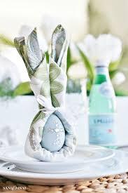 easter napkins easter bunny napkin fold and table setting idea sand and sisal