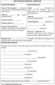 free sample proposal template