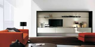 Modern Living Room Divider Contemporary Open Living Room With Black Wall Units And Storage