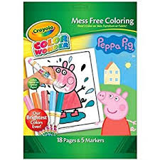 peppa pig colour mess free colouring crayola 18
