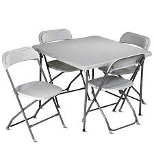 5 Piece Folding Table And Chair Set Office Star Folding Table Costa Home
