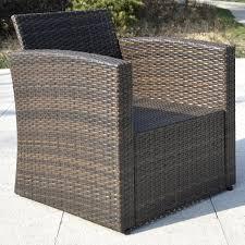 Rattan Settee Furniture Costway 4 Pcs Cushioned Wicker Patio Sofa Furniture Set Garden