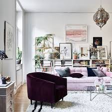 Aubergine Armchair Pastel Vintage Home With A Scandinavian Aesthetic Digsdigs