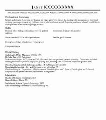 speech pathology and audiology resume examples in jobstown new