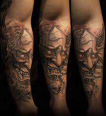 hannya mask tattoo black and grey asian black and grey archives chronic ink mặt quỷ pinterest
