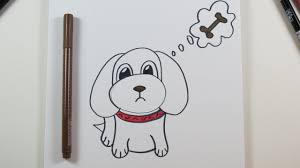 diy drawing a cute puppy easy drawings for kids youtube