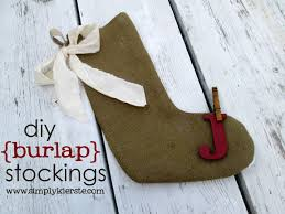 diy burlap stockings with crap i u0027ve made simply kierste design co