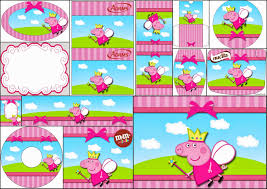 peppa pig fairy party free printable candy bar labels birthday