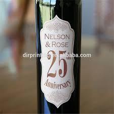 Anniversary Wine Bottles Winskys Wine Bottle Body Label Stickers Private Label Wine Custom