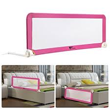 amzdeal baby bed guard portable and foldable bed rails for