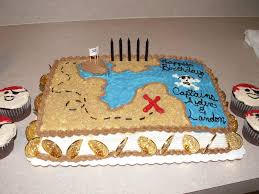 New Year Cake Decorating Games by Treasure Map Birthday Cake Pirate Treasure Map With Cupcakes