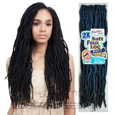 hair crochet freetress synthetic hair crochet braids 2x soft faux loc wavy 20