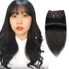 18 inch extensions 18 inch clip in hair extensions black 1