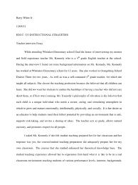 Sample Essay Question For Job Interview Teacher Interview Essay Sharing Teachers