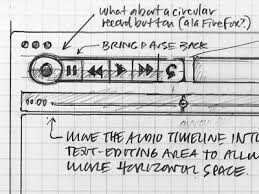 note app wireframe sketch controls by mike rohde dribbble