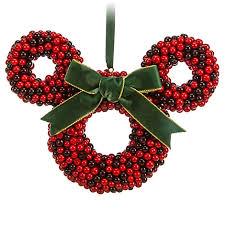 ornament minnie mouse icon cranberry wreath