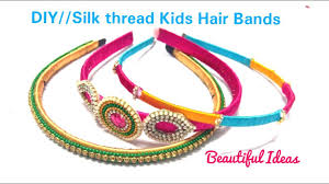 hair bands for diy how to make silk thread kids hair bands kids hair bands