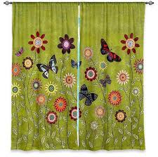 Butterfly Kitchen Curtains Dianoche Lined Window Curtains By Sascalia Bohemian Butterflies